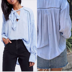 Free People Wishful Moments Embroidered Top.Large